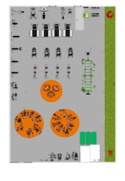 2d gym floor design diagram