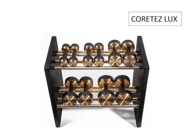 COREFORM Coretez Lux dumbbells on a rack