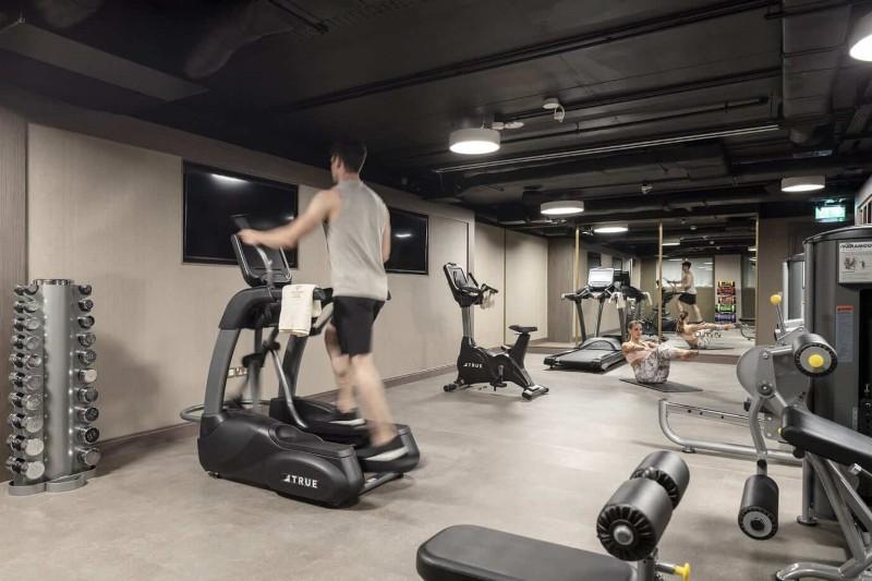 two people exercising at lansdowne place