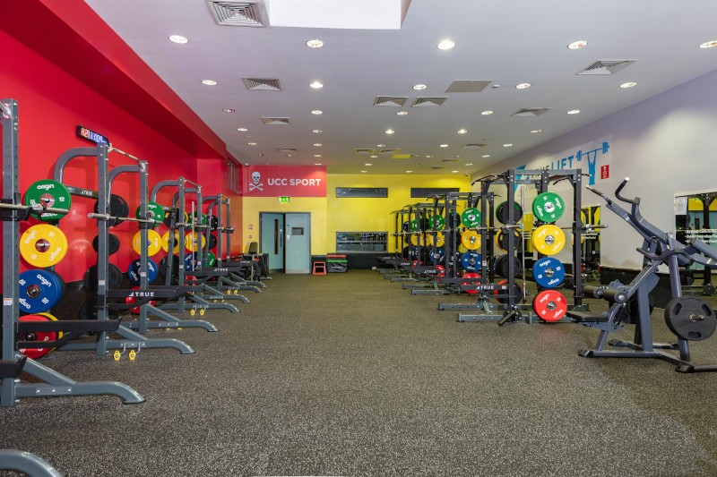 weight rack area at the Mardyke Arena